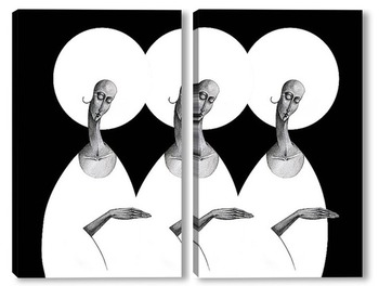 Модульная картина BLACK AND WHITE