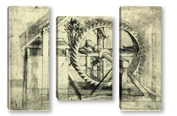 Модульная картина Leonardo da Vinci-14