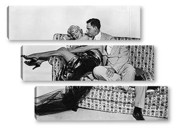 Модульная картина Мерелин Монро и Том Эвел.