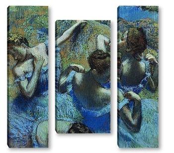 Модульная картина Балерины в голубом.
