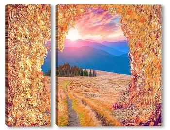 Модульная картина Осеннее настроение