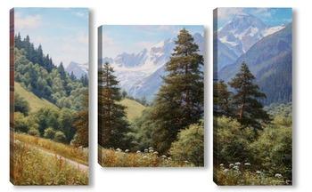 Модульная картина Архыз, гора София