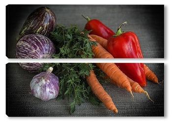 Модульная картина Овощи