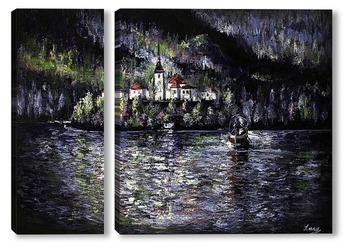 Модульная картина Озеро Блед
