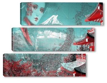 Модульная картина Японская пагода