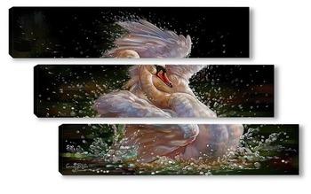 Модульная картина Лебединый танец