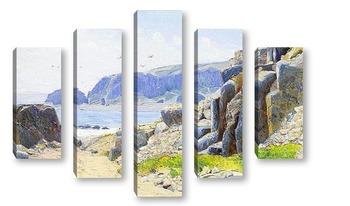 Модульная картина На побережье, Чили
