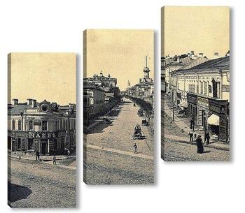 Модульная картина Новая Басманная, Москва, 1888