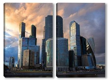 Модульная картина Москва-Сити