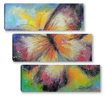 Модульная картина Полет бабочки