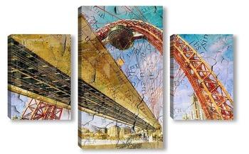 Модульная картина Арочный мост
