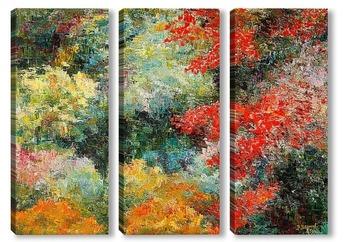 Модульная картина Палитра леса