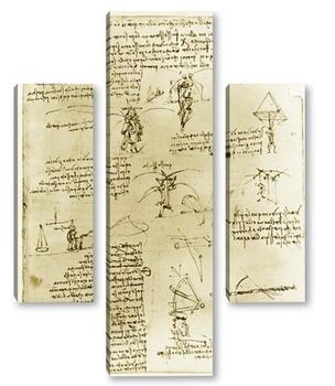 Модульная картина Leonardo da Vinci-02