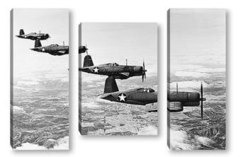 Модульная картина Испытательные полеты F1U-4 -<Корсар>,1940г.