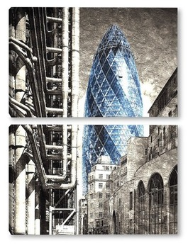 Модульная картина Swiss Re. Лондон