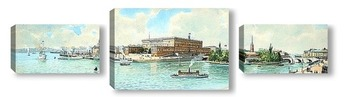 Модульная картина Вид на Королевский дворец, Стокгольм