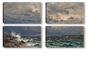 Модульная картина Бурное море