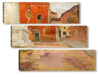 Модульная картина Красная церковь в Венеции