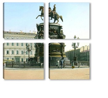 Модульная картина Санкт-Петербург. Николай I, Памятник на Исаакиевской площади