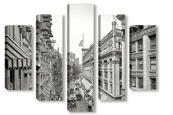 Модульная картина Вашингтон-стрит, 1906