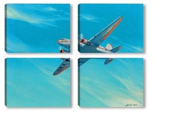 Модульная картина Американские авиалинии