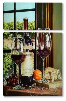 "Модульная картина ""Вид на виноградник.Калифорния"""