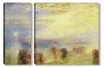 Модульная картина Подход к Венеции, 1844