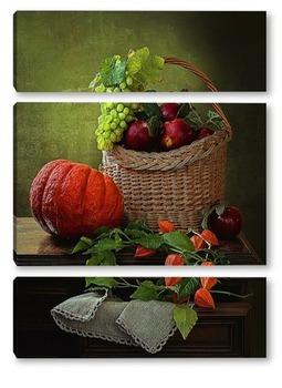 Модульная картина Урожай на комоде