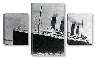 Модульная картина <Титаник> - первый рейс, 1912г.