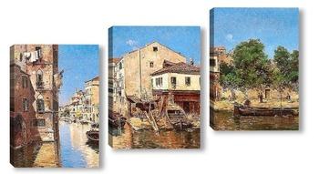 Модульная картина Канал, Венеция