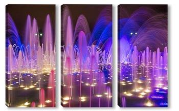 Модульная картина Яркие краски фонтана в усадьбе Царицыно