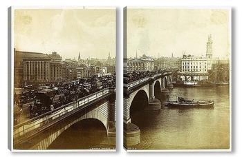 Модульная картина Лондонский мост, 1880