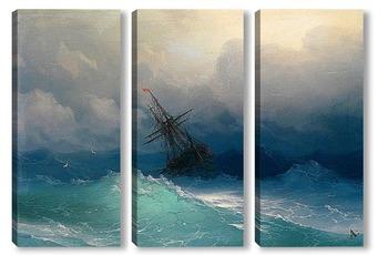Модульная картина Судно в Бурных Морях