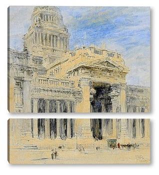 Модульная картина Брюссель: здании суда