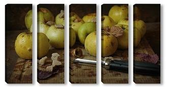 Модульная картина Скоро будут печеные яблоки