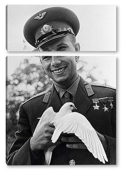 Модульная картина Юрий Гагарин
