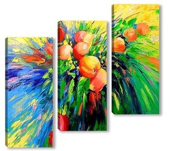 Модульная картина Ветка спелых яблок