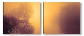 Модульная картина туман 4