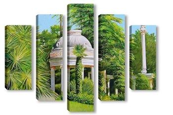 Модульная картина Парк Дендрарий. Сочи.
