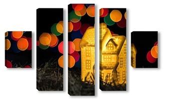 Модульная картина Новогодняя открытка