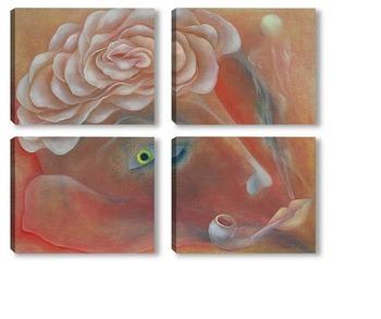 Модульная картина Душа поэта. Мистический цветок