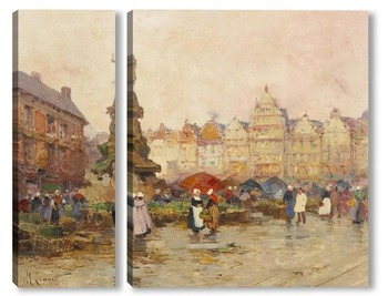 Модульная картина Гротен Маркт, Антверпен, Бельгия