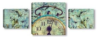 Модульная картина Старинные часы