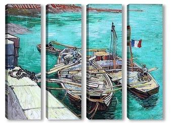 Модульная картина Закрепленные корабли. 1888