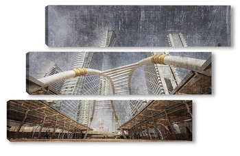 Модульная картина Современные здания Бангкока