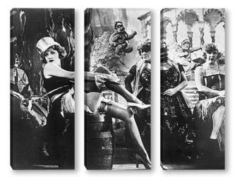 Модульная картина Марлен Дитрих в фильме<Голубые ангелы>.1930г.