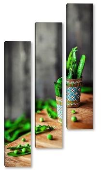 Модульная картина Зеленый горошек