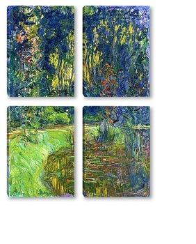 Модульная картина Пруд с водяными лилиями