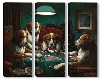 Модульная картина Покер, 1894