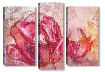 Модульная картина Красный тюльпан